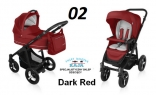 Baby Design LUPO COMFORT 2w1 NEW 2016 kolor 02-Dark Red DESIGN LC-02